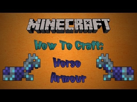 How To Craft Horse Armor in Minecraft 1.11 - YouTube