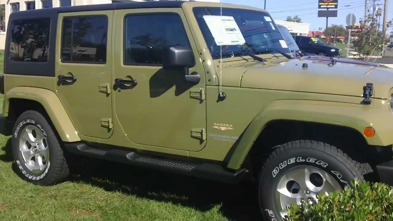 2013 Jeep Wrangler Unlimited Sahara Commando Green ...