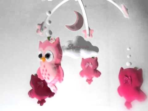 Little owl crib mobile