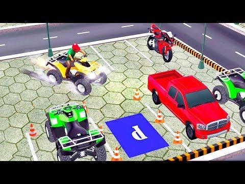 Bike Racing Games - ATV Quad Bike Parking games - Gameplay Android free games - 동영상