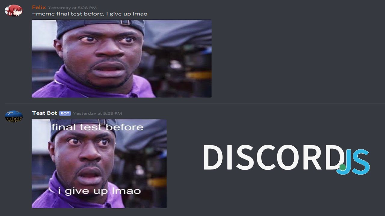 How To Make A Meme Generator Discord Bot With Image Manipulation Discord Js Youtube