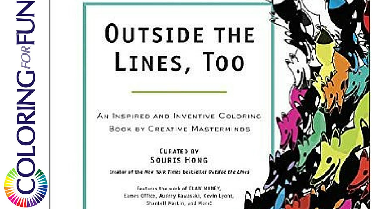 video review outside the lines too adult coloring book - Outside The Lines Coloring Book