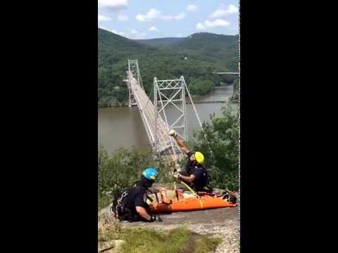 A video captured by Westchester County Police of one of its helicopters landing on the scene Sunday.