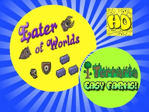 Terraria Easy Eater of Worlds Farm!