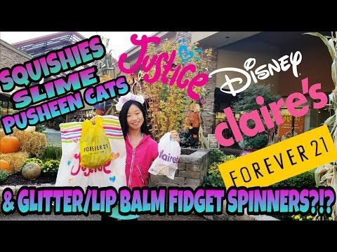 SHOPPING AT THE LARGEST OUTLET MALL HUNTING FOR SQUISHIES, SLIMES, FIDGETS SPINNERS AND MUCH MORE!