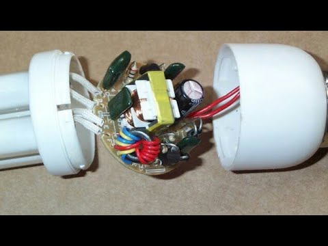 (Science project) Joule thief circuit made from CFL lamp components