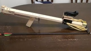 How To Make A Slingshot Crossbow, speargun arrow shooter 70 pounds draw weight