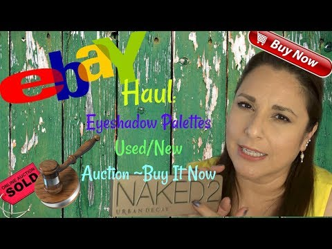 Haul | Ebay Eye Shadow Palettes |New & Used | Auction & Buy It Now