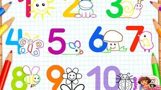 Учимся считать до 5. Развивающие Мультики Для Самых Маленьких
