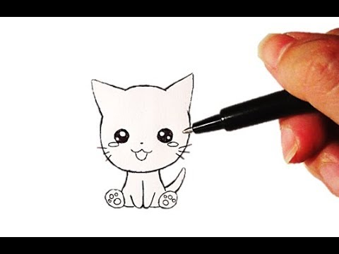 Tutoriel n 20 comment dessiner un chat kawaii facilement youtube - Chat facile a dessiner ...