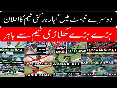 Pakistan Playing 11 in 2nd Test against South Africa at Cape Town Urdu/Hindi