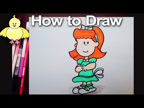 how to draw charlie brown and friends step by step
