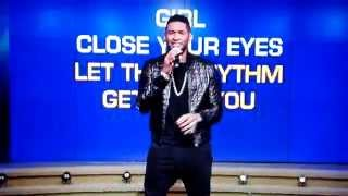 Usher Doing Michael jackson Rock With You on Live Karaoke