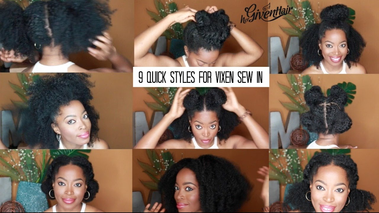 vixen sew in/versatile natural weave: 9 quick heatless styles for school and work ft hergivenhair