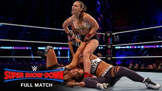 FULL MATCH - Ronda Rousey & The Bella Twins vs. The Riott Squad: WWE Super Show-Down 2018