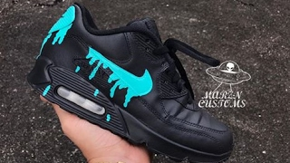 Air Max Dripped Custom + Timelapse By MarznCustoms