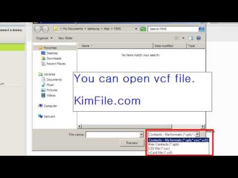How to open vcf file extension, download free vcard viewer - YouTube