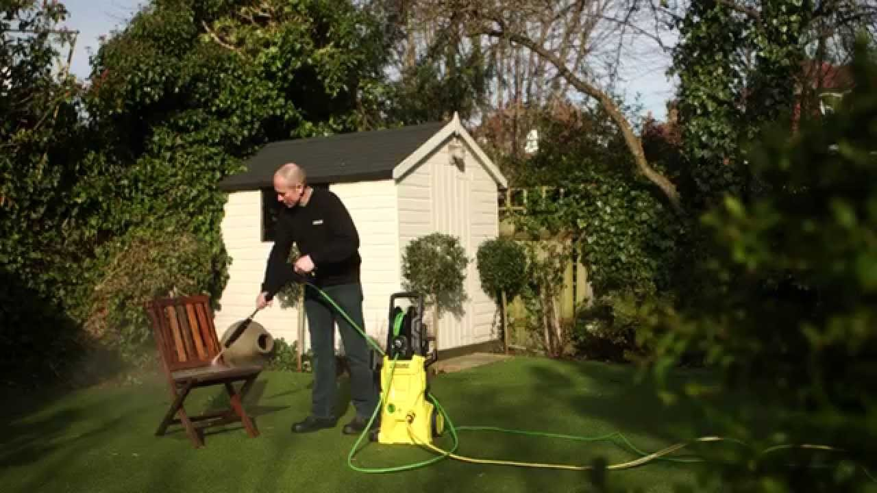 how to clean your garden furniture with a kärcher pressure washer