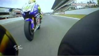 Rossi vs Lorenzo at the 2009 Catalunya Grand Prix