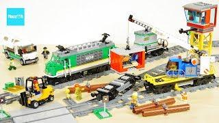 レゴ シティ 貨物列車 60198 セット説明 11:08~ / LEGO City Cargo Train