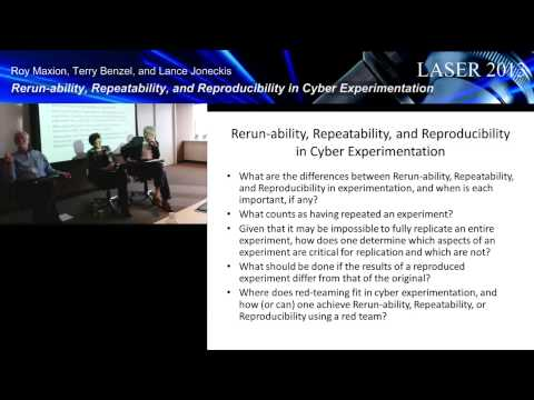 Panel: Rerun-ability, Repeatability, and Reproducibility in