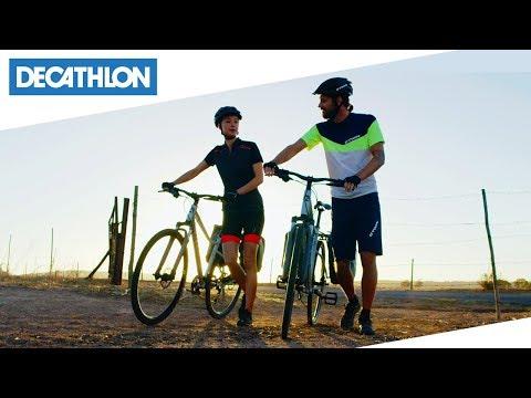 Bici Da Trekking Riverside 100 Btwin Decathlon Italia Youtube