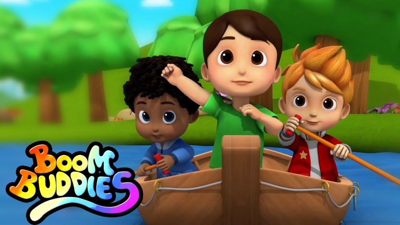 Rema rema rema tu bote rimas para niños | Boom Buddies Español canciones para bebes
