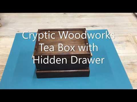 Tea Box with Hidden Drawer