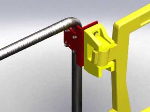 Self Closing Safety Gate Bracket Kit For Pipe Handrail