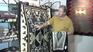 Two Grey Hills Navajo weavings how to identify and their history
