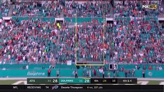 Cody Parkey's 39-Yard Game Winning Field Goal   Jets vs Dolphins Week 7