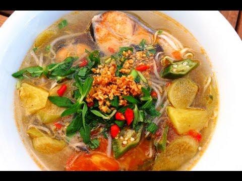 Canh Chua C  Vietnamese Sweet  Sour Fish Soup  YouTube