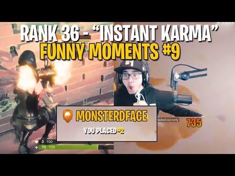 """Instant Karma"" Best & Funny Moments Fortnite #9"