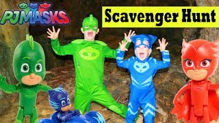 PJ Masks Scavenger Hunt for Toys with Gekko Catboy Owlette