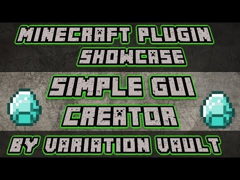 Minecraft Bukkit Plugin - Simple GUI Creator - Create you own GUIs