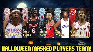 HALLOWEEN MASKED PLAYERS SQUAD! NBA 2K18 MYTEAM!