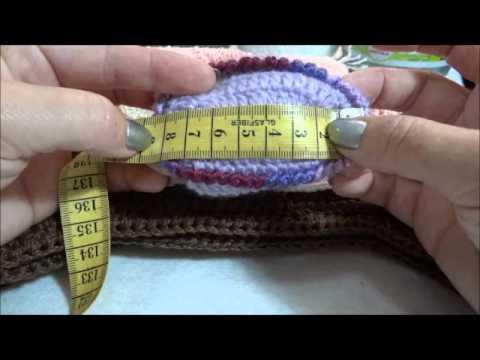 Tabelas de tamanhos toucas e sapatinhos em crochê - YouTube 0d1915e15f9
