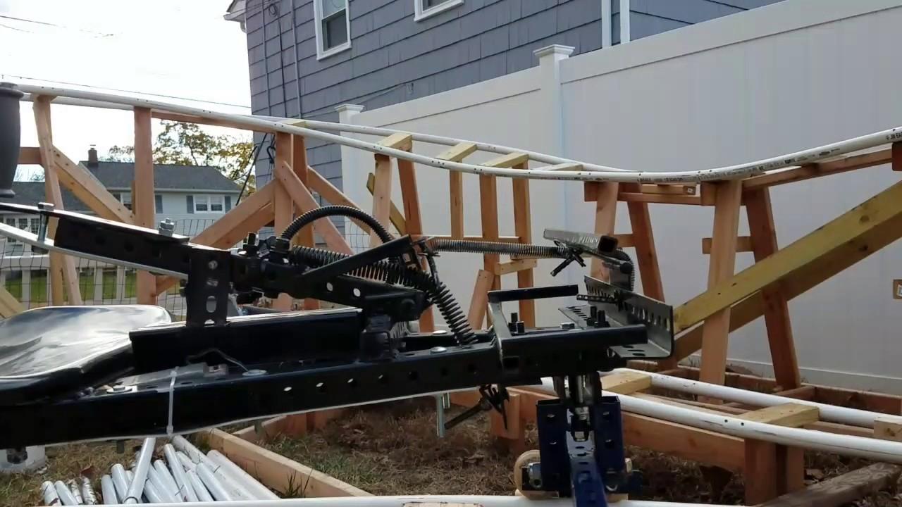best backyard rollercoaster cart youtube
