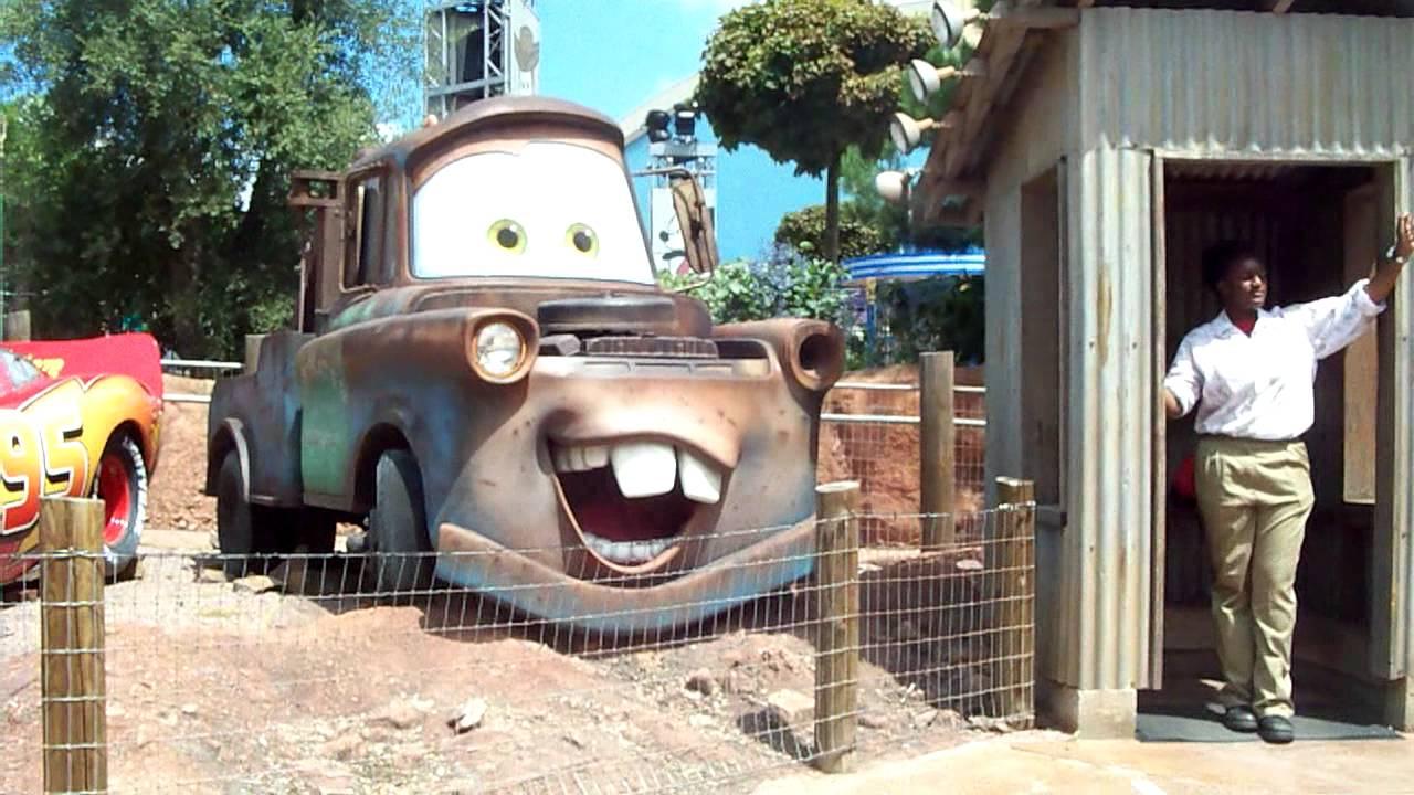 Cars Quatre Roues Rallye Disneyland Paris On Ride Hd Youtube