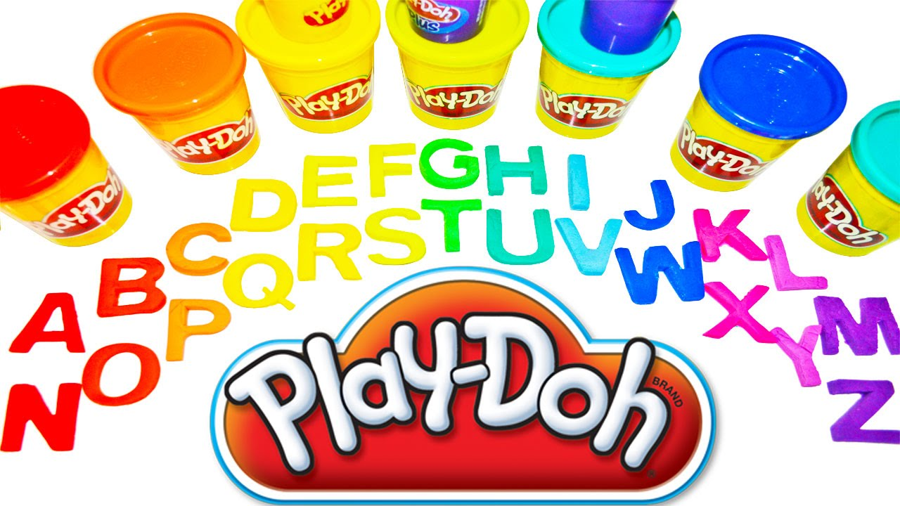 play doh abc for kids learn abc the alphabet letters play doh rainbow abc