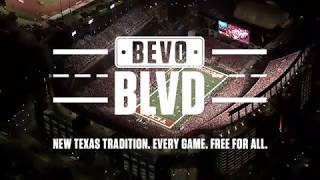 Bevo Blvd.: New Texas Tradition. Every Game. Free For All.