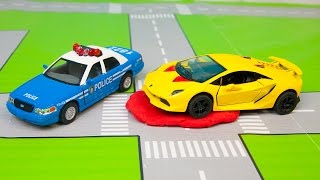 Мультик про машинки - 183 серия: Полицейская погоня, Гоночная машина, Автобус, Монстер Трак