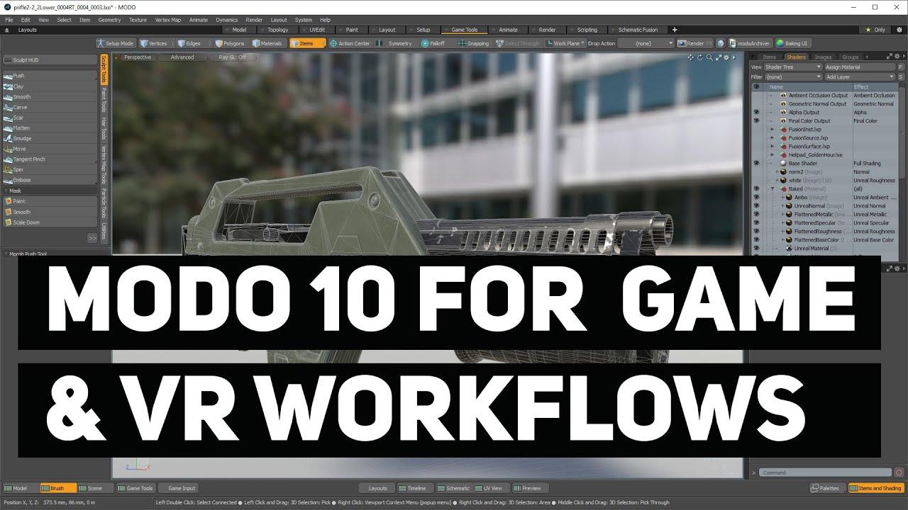 Modo 10 for Game & VR Workflows - Recorded Webinar