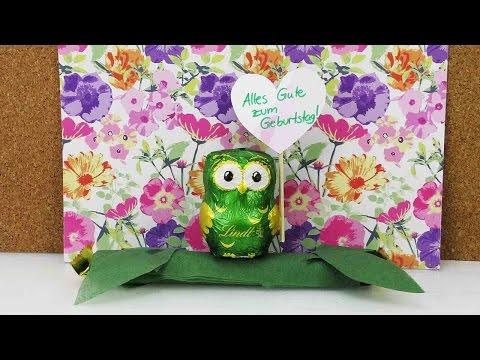 Süße Geburtstagsgeschenk Idee | Lindt Eulen & Hello Schokolade | Tolles Geschenk selber machen