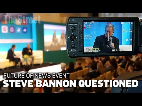 Steve Bannon Interview at FT Future of News Conference