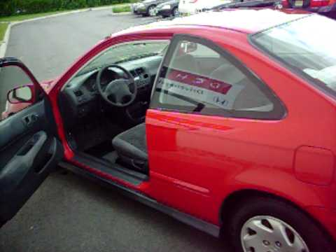 1997 Honda Civic EX Coupe - Red - For Sale on EBAY - YouTube