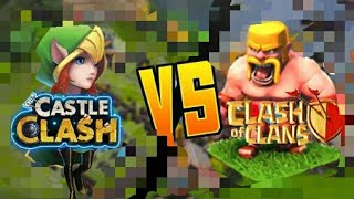 CLASH OF CLANS VS CASTLE CLASH | SUPERCELL VS IGG | CAN CASTLE CLASH OVERCOME CLASH OF CLANS?