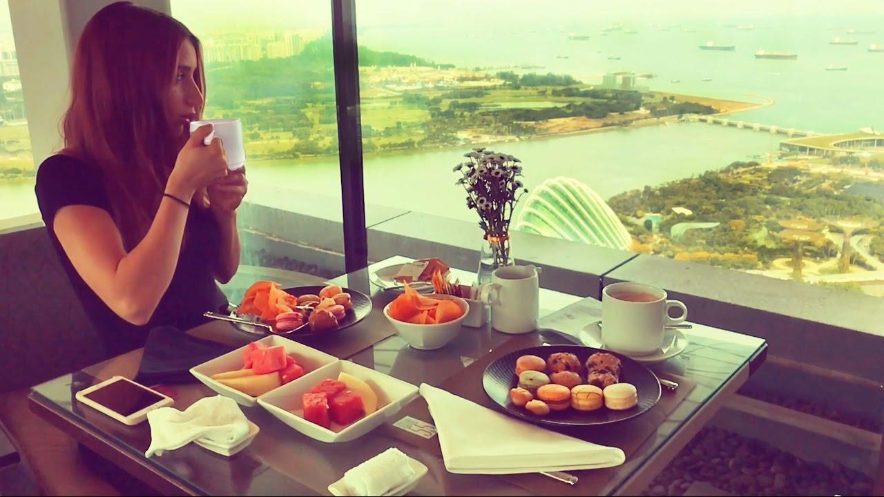 Afternoon Tea at Marina Bay Sands Singapore Hotel - YouTube