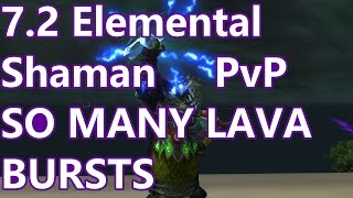 WoW - 7.2 Elemental Shaman PvP - SO MANY LAVA BURSTS - Battleground w/Commentary