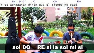 CUANDO PIENSES EN VOLVER (Coro) Pedro Suárez Vértiz FLAUTA DULCE NOTAS